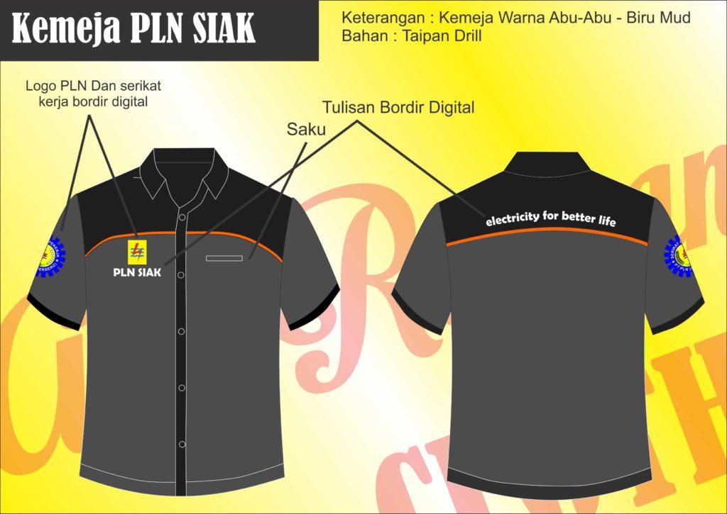 desain seragam kantor PLN